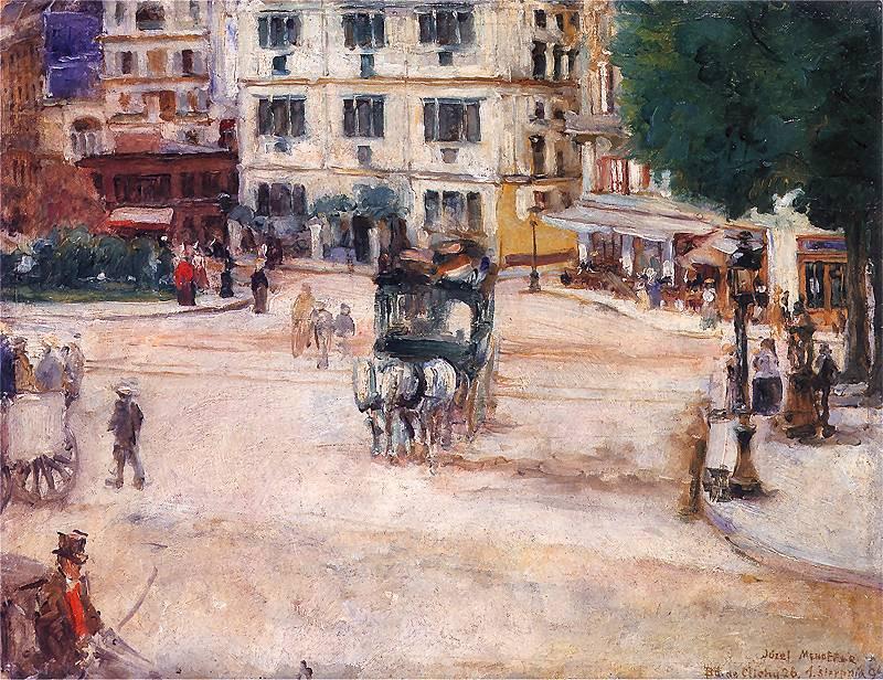 Place Pigalle, Paris, Józef Mehoffer - 1894